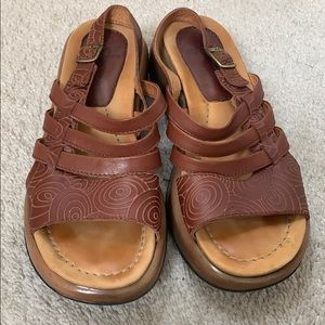 Dansko Tooled Leather Sandals